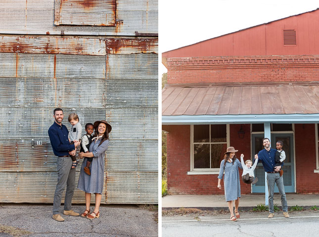 Red barn family session