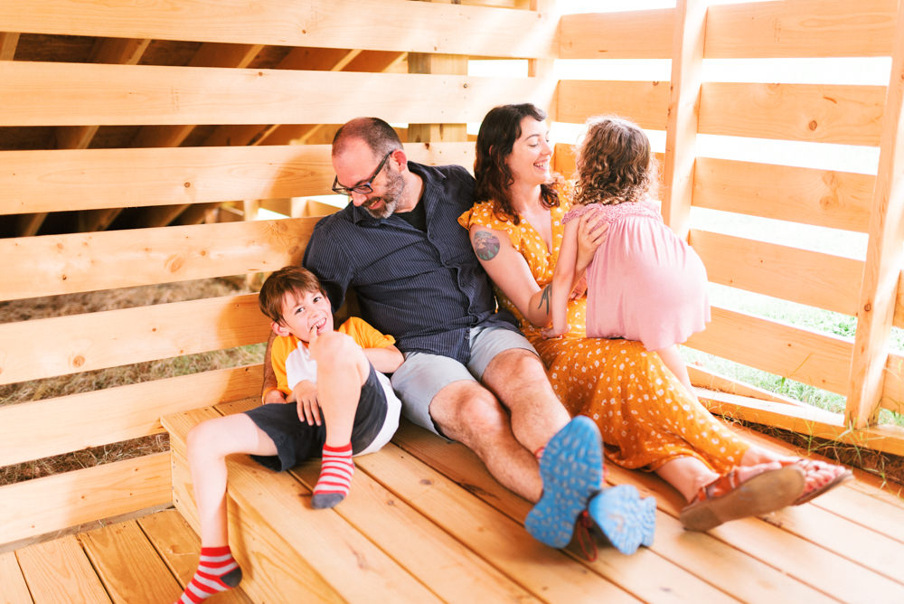 colorful film family session